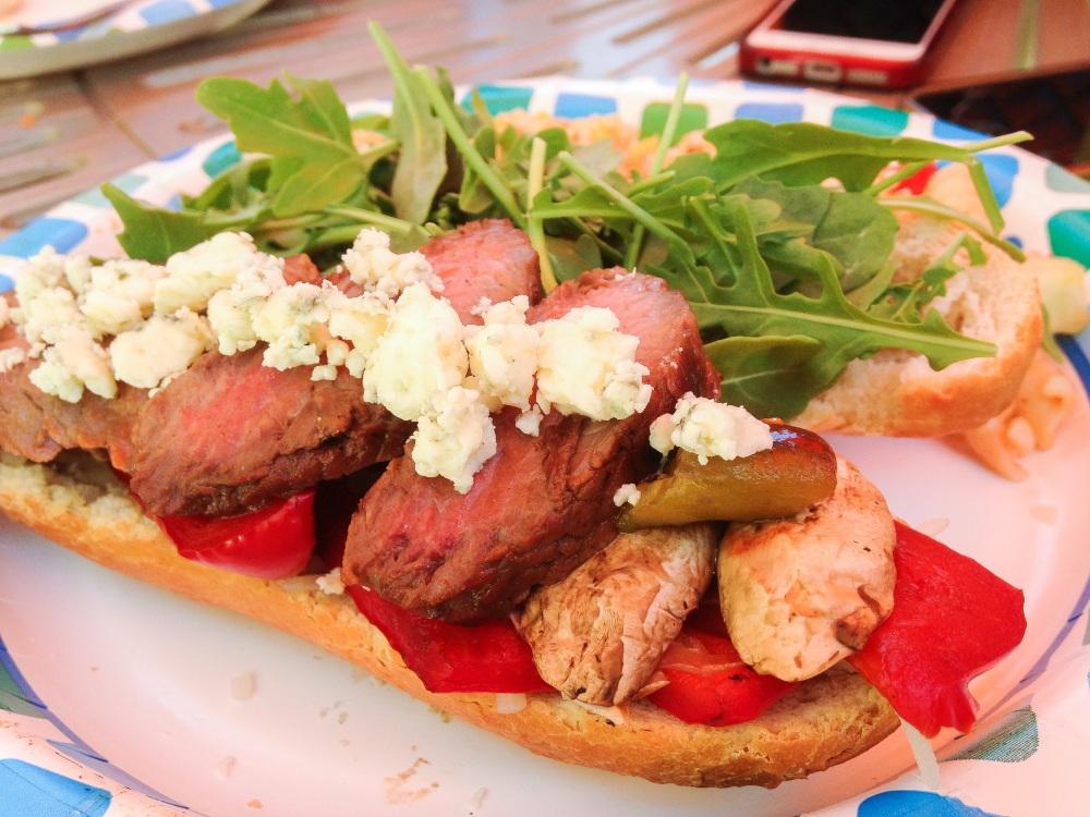 Steak Blue Cheese Sandwich